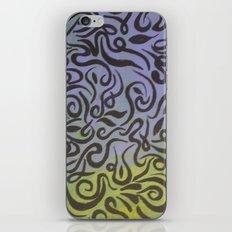 Blue vines  iPhone & iPod Skin