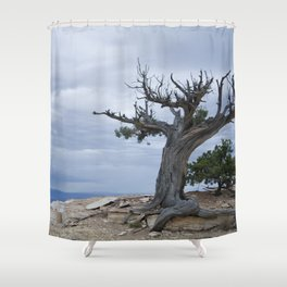 A storm on the horizon Shower Curtain
