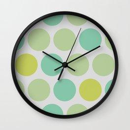 Mr Citrus Polka dots Wall Clock