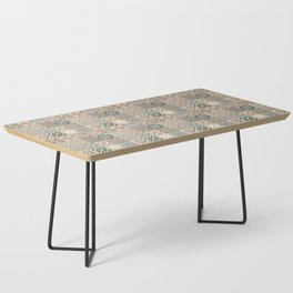 N49 - Oriental Traditional Moroccan Farmhouse Style Texture Artwork. Coffee Table