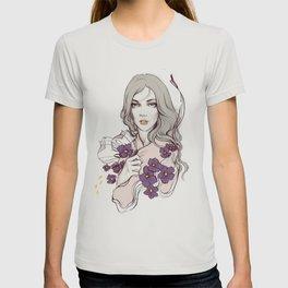 Birth Flower II - Violet T-shirt