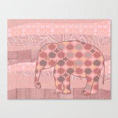 Bohemian Pink Elephant Canvas Print