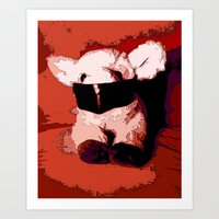 silence of the lambs Art Prints featuring The Silence of the Lambs by Lior Blum