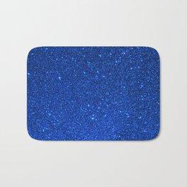 Sapphire September Libra Blue Birthstone Shimmering Glitter Bath Mat