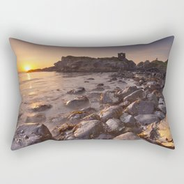Sunrise at Kinbane Castle in Northern Ireland Rectangular Pillow