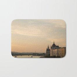 Sun sets over Budapest Bath Mat