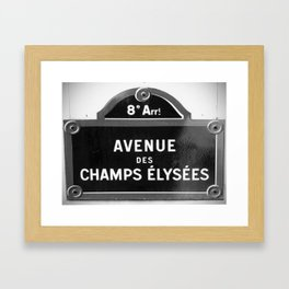 Avenue des Champs Elysees in Paris Framed Art Print