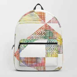 Abstract Geometric Watercolor by Zouzounio Art Backpack