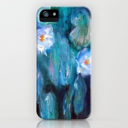 Blue Water Lilies iPhone Case