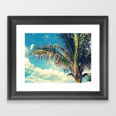 Breezy Beach Palm Framed Art Print