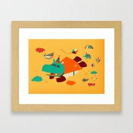 Super Hippo! Framed Art Print
