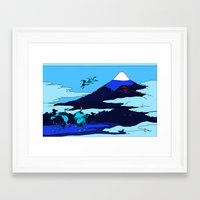 hokusai Framed Art Prints featuring Hokusai by Nicky Hope