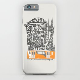 Glasgow Cityscape iPhone Case