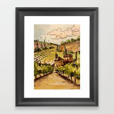 French Countryside Framed Art Print