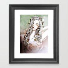 Sun and Roses Framed Art Print