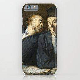 "Honoré Daumier ""Two Lawyers Conversing"" iPhone Case"