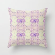 Fuzzy kaleidoscope Throw Pillow