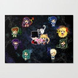 Sailor Moonies Canvas Print