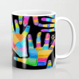 Hands of colors   Hands of light Coffee Mug