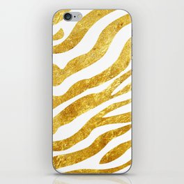 Golden Zebra iPhone Skin