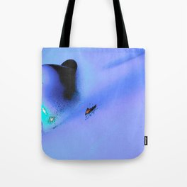 Bug on the blue Tote Bag