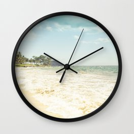 Polo Beach Maui Hawaii Wall Clock