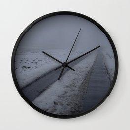 Foggy winter day III Wall Clock
