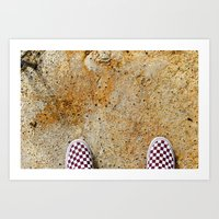 vans Art Prints featuring Vans by Neil John Smith