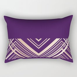 art deco royal Rectangular Pillow