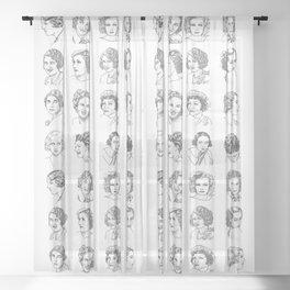 OLD HOLLYWOOD SERIES Sheer Curtain