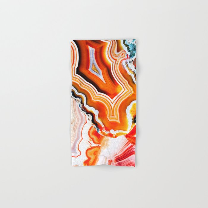 The Vivid Imagination of Nature, Layers of Agate Hand & Bath Towel