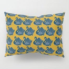 Crown Lynn Swans (Mustard) Pillow Sham