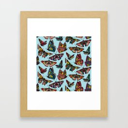summer butterflies multi sky Framed Art Print
