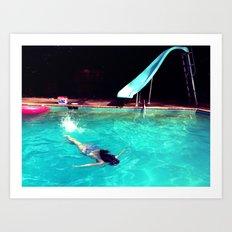 Swim Art Print