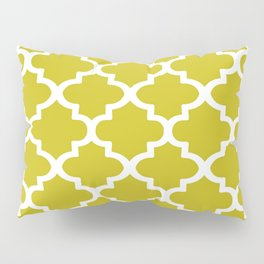 Arabesque Architecture Pattern In Yellow Pillow Sham