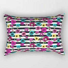Flowers and stripes Rectangular Pillow