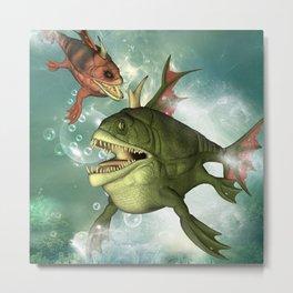 Armour fish Metal Print