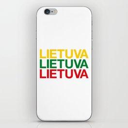 LITHUANIA iPhone Skin