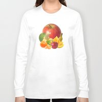 fruit Long Sleeve T-shirts featuring Fruit by Bo Derks