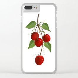 Country Cherries Clear iPhone Case
