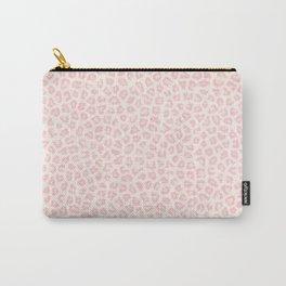 Modern ivory blush pink girly cheetah animal print pattern Carry-All Pouch