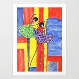 Twin Ballet Dancers Art Print