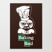 baking Canvas Prints featuring Baking Bad by Mike Handy Art