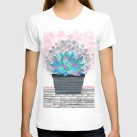 succulent T-shirts featuring succulent by Asja Boros
