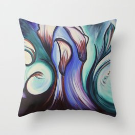 Lily Patch Throw Pillow