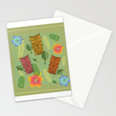 Bamboo Tiki Room Pattern Stationery Cards