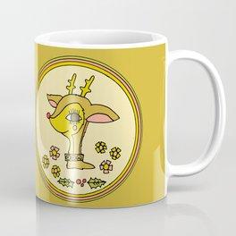 vintage reindeer christmas cheer by surfy birdy Coffee Mug