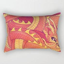 Coiled Dragon Rectangular Pillow