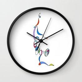 Yoga Scribble - Balance Wall Clock