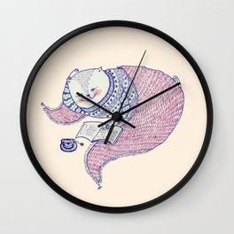 lazy saturdays Wall Clock